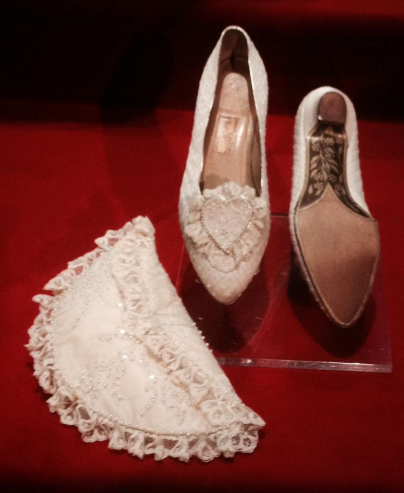 The shoes Princess Diana wore on her wedding day in 1981