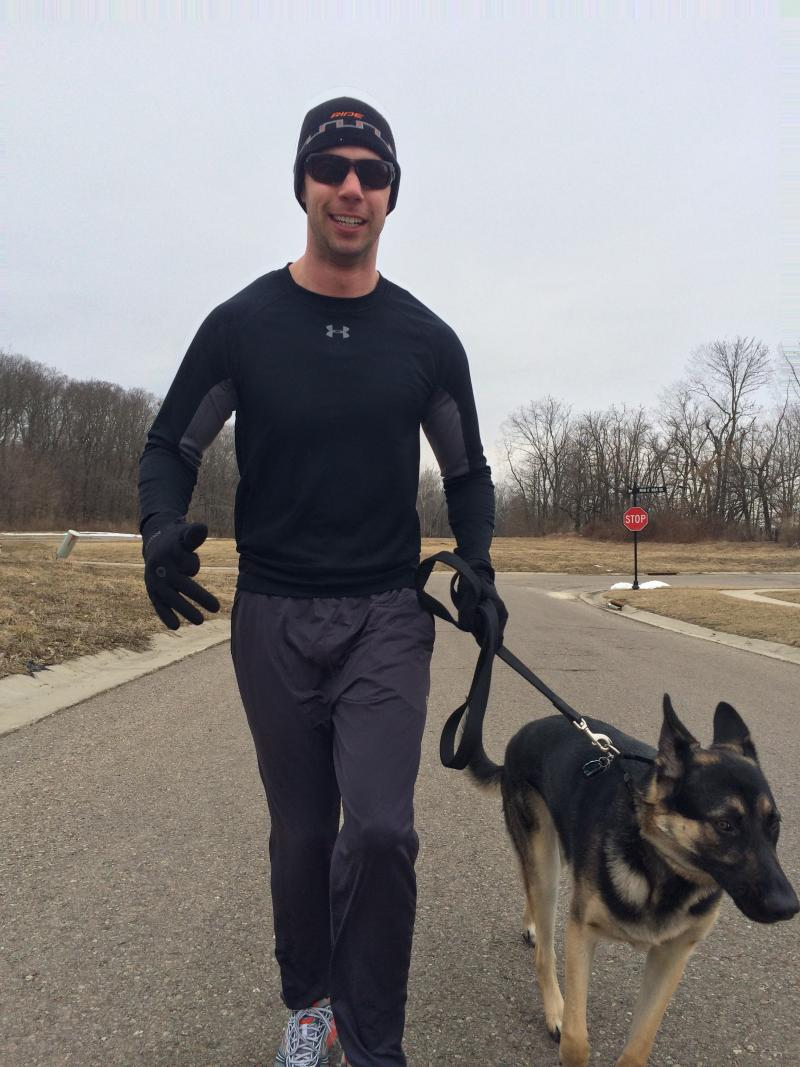 Jeff McMahon and his running partner Duke