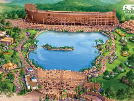 An illustration of the park which will include a replica of Noah's Ark