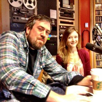 2/3 Goat lead singers Ryan Dunn and Annalyse McCoy in WNKU studios