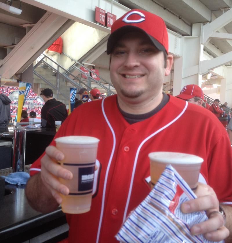Ryan Schisler is a big Reds fan and a big Joey Votto fan.