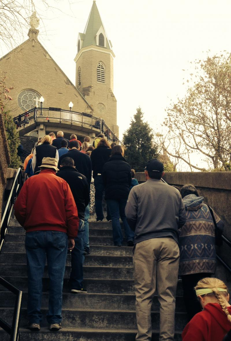 The faithful continue their journey of Praying the Steps
