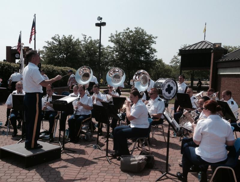 338th Army Band plays during Memorial Day event in Blue Ash
