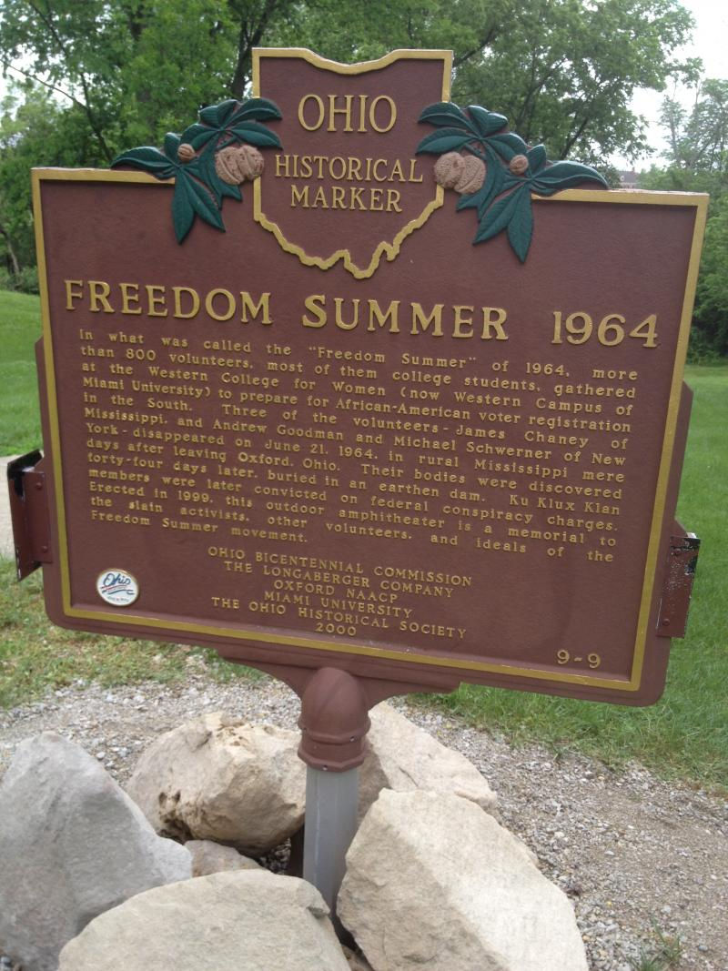 Freedom Summer historical marker