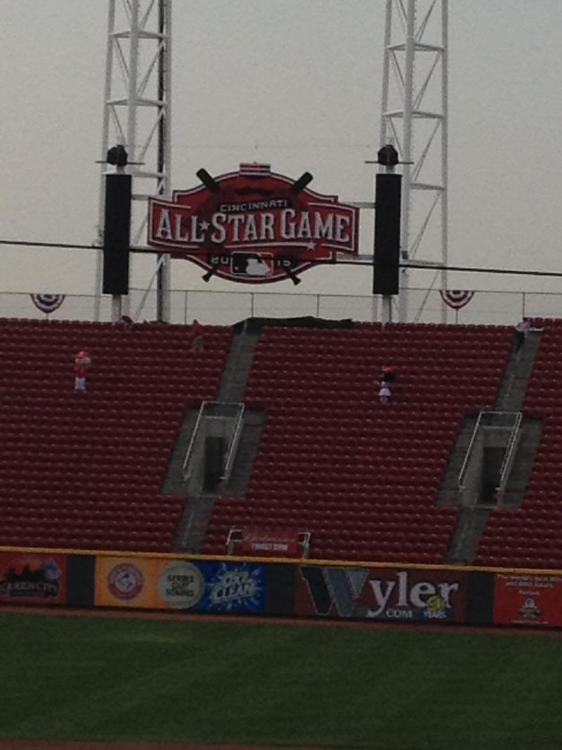 2015 All-Star Game logo out in Right field at GABP