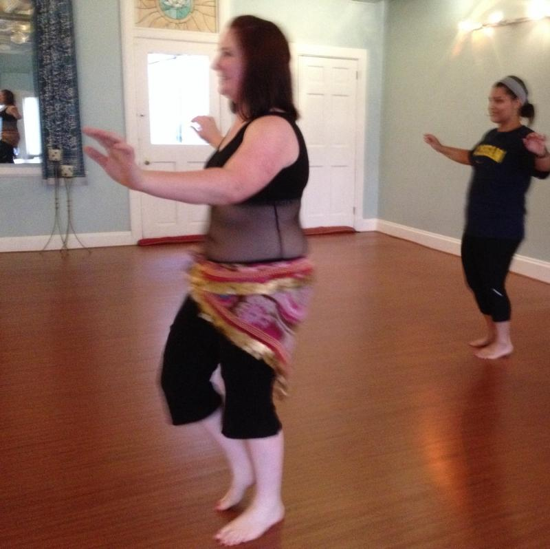 Maali Shaker demonstrates a basic hip circle