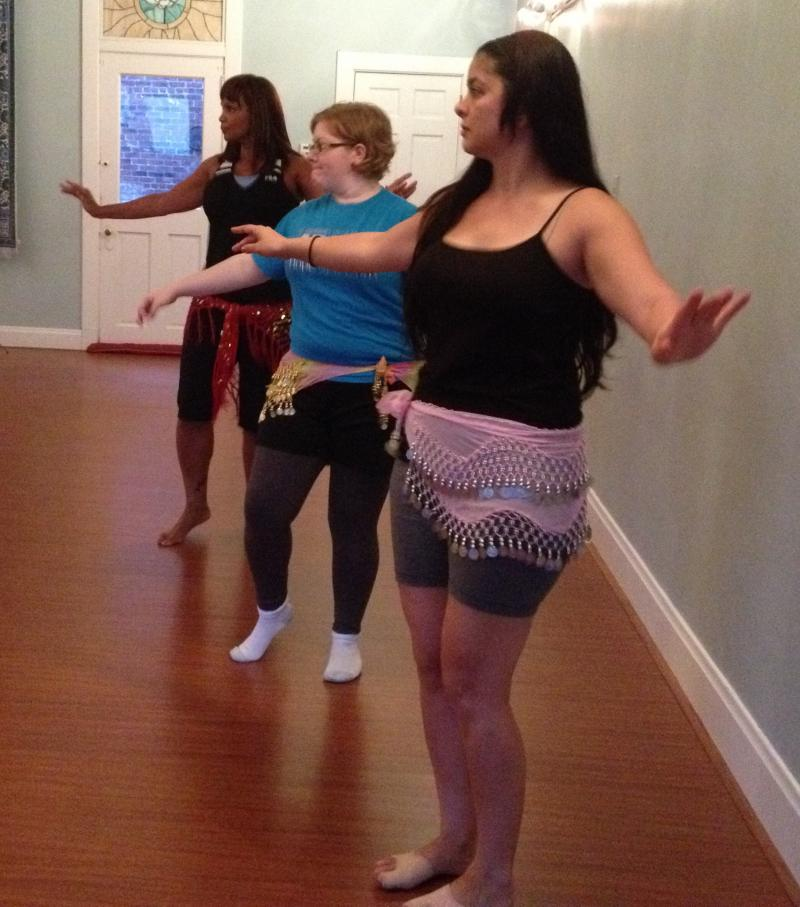 Rehearsing for Cincinnati Belly Dance Convention