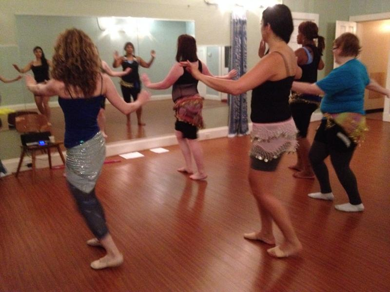 Belly Dance teacher Maali Shaker rehearses with her class for the Cincinnati Belly Dance Convention