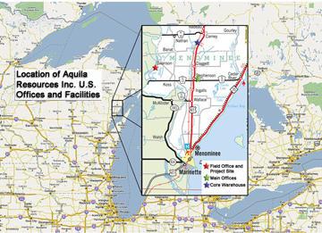 Gold In Michigan Map.Wisconsin Tribe Sues To Block Michigan Gold Mine Wnmu Fm