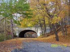 Chapel Street Bridge in Edgewood Park, New Haven, Conn.