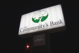 The Community's Bank in Bridgeport went into receivership.