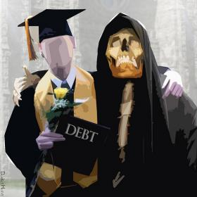 Student loan debt is topping $1.2 trillion dollars and 13% of students defaulting on their loans.