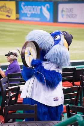 Raymond, the mascot for the Tampa Bay Rays