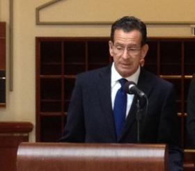 Governor Malloy on Friday after a Bond Commission meeting.