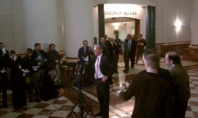 Tom Foley concedes the 2010 election for governor.