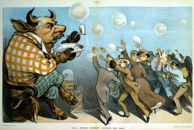 This Joseph Keppler illustration from 1901 shows that Wall Street bubbles are nothing new