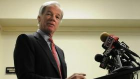Tom Foley takes questions after announcing he was forming an exploratory committee for a possible election rematch against Gov. Dannel P. Malloy. (September 9, 2013)