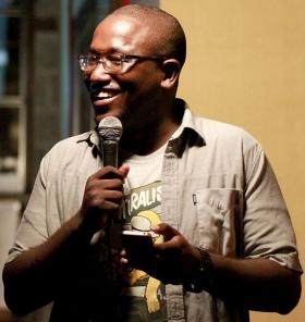 Comedian Hannibal Buress at The Knitting Factory in Brooklyn.