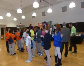 Nearly 100 middle school children attended a manufacturing event at Three Rivers Community College in Norwich.