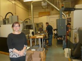 Michelle Allinson of Cursor, LLC and Aerospace Alloys, Inc. in Bloomfield is starting to feel the effects of the federal shutdown