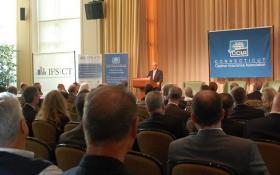 Thomas Leonardi, Commissioner of the Connecticut Insurance Department and the 2012 Symposium on Captive Insurance.