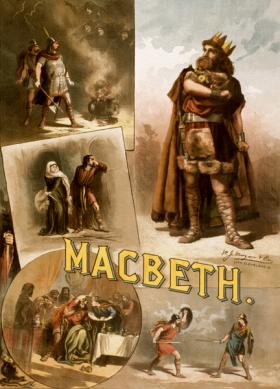 Poster of Thos. W. Keene in William Shakespeare's MacBeth, c. 1884.
