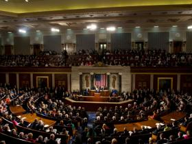 Members of the U.S. House of Representatives have shown they can come together...for the State of the Union address.