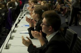 Model U.N. conference.
