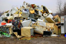 Each American produces over seven pounds of garbage a day, much of it recyclable.