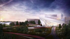 An artist's rendering of Mohegan Sun's planned Palmer resort casino