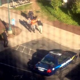 A photo posted to Twitter at 2:35 pm on Monday showed what appeared to be an arrest at CCSU, following a lockdown.