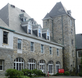 McAuliffe Hall at Fairfield University.