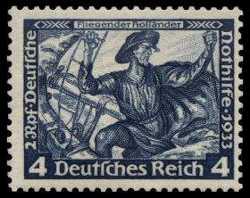 The Flying Dutchman on a German stamp.