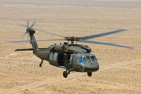 A Sikorsky Black Hawk helicopter: just one of the complex engineering systems built by United Technologies.