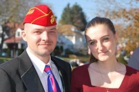 Justin Eldridge and his wife, Joanna Gallup Eldridge