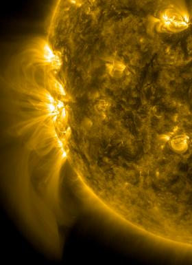 The active region featured in this post, named 1890, is bigger than Jupiter and has produced numerous flares since emerging over the sun's eastern limb on Nov. 2, 2013.