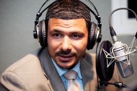 Dr. Steve Perry during an earlier visit to WNPR.
