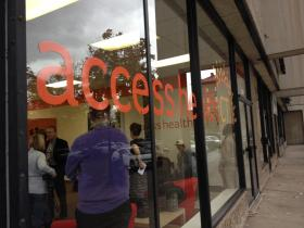 A new storefront in New Britain for Access Health CT.