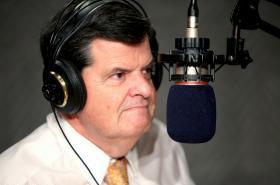 Department of Revenue Services Commissioner Kevin Sullivan in WNPR's studios on December 5, 2011.