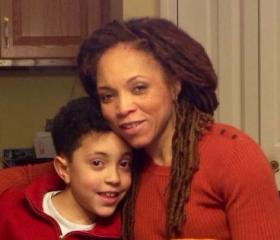 Sophfronia Scott with her son, Tain, now a fourth grader at Sandy Hook Elementary School.