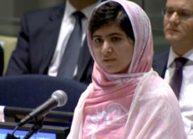 Malala Yousafazai's words in July to the United Nations General Assembly were marked as among the top ten most notable quotes of the year.