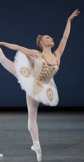 "Sara Mearns in George Balanchine's ""Cortege Hongrois."""