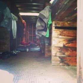 A dormitory-style home in a truck trailer in Hartford.