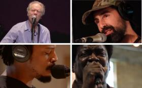 Loudon Wainwright III, Blitzen Trapper's Eric Earley, Charles Bradley, and Black Joe Lewis (Clockwise, starting from the top-left)