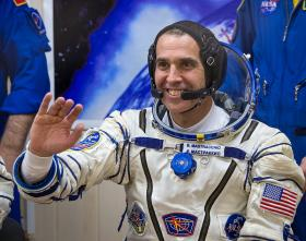 Rick Mastracchio of NASA is seen prior to launching aboard the International Space Station in November. Mastracchio and one other astronaut will conduct a space walk on Saturday to make repairs to the International Space Station.