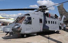 Sikorsky's Cyclone maritime helicopter at the Paris Air Show.