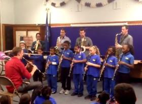 The Asylum Saxophone Quartet featuring Bravo Waterbury! woodwinds.
