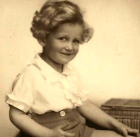 Ivan Backer as a young child.