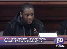 Jaquan Harris of the DCF Youth Advisory Panel.