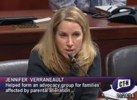 Jennifer Verraneault, an advocate for families, speaks during the task force meeting on Thursday.
